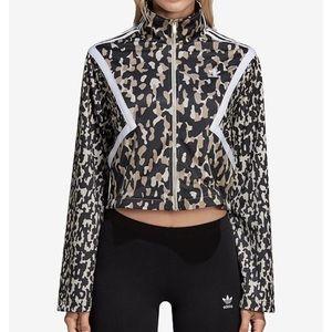 Adidas Leoflage printed cropped track jacket